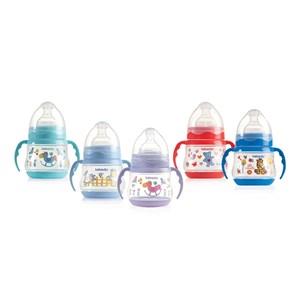 Bebedor 88322 0% BPA Desenli Kulplu Geniş Ağızlı Biberon 150 ml