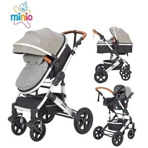 Minio Mint Travel Sistem Bebek Arabası Gri