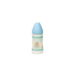 Suavinex 3800142 Pp Geniş Ağız Biberon 270  ml Ortodontik Silikon Uç No:1 Orta Akış Blue Biscuit