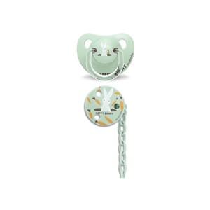 Suavinex 3801431 Total Look Ortodontik Silikon Emzik + Zincir Seti 6-18 Ay Happy Bunny