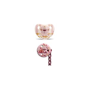 Suavinex 3801431 Ortodontik Silikon Emzik + Emzik Zinciri Set 6-18 Ay Ballerina