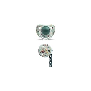 Suavinex 3801431 Ortodontik Silikon Emzik + Emzik Zinciri Set 6-18 Ay Strongman